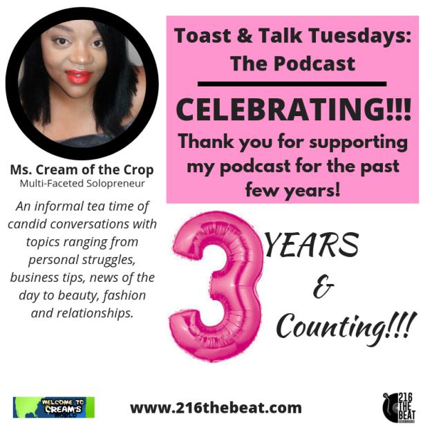 Toast & Talk Tuesdays_The Podcast Anniversary Flyer